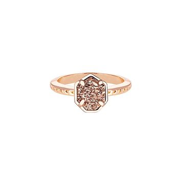 Calvin Ring in Rose Gold Drusy - Kendra Scott Jewelry