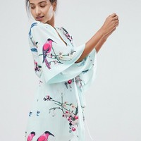 B By Ted Baker Flight Of The Orient Mint Kimono at asos.com
