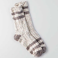 AEO Striped Crew Socks , Charcoal