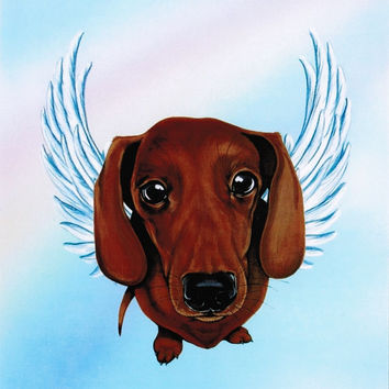 Dachshund Angel - Dachshund Art - Doxies - Dachshunds - Dog Angels - Guardian Angels - Pet Memorial - Rainbow Bridge - Weeze Mace - 8x10