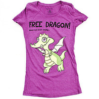 Girls 'Free Dragon' Graphic Tee