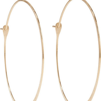 Melissa Joy Manning - 14-karat gold hoop earrings