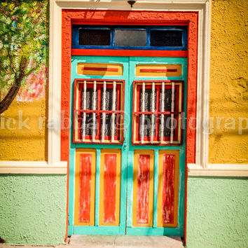 Mexican Door Fine Art Photography Cancun Mexico Isla Mujeres Col
