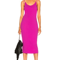 T by Alexander Wang High Twist Midi Dress in Fuchsia | FWRD