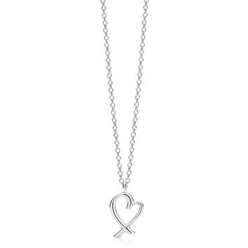 Tiffany & Co. - Paloma Picasso® Loving Heart pendant in sterling silver, small.
