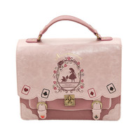 Japan Bag Lolita Style Women Lady Girls Alice in Wonderland Designer Embroidery Handbag Messenger Bag School Bag