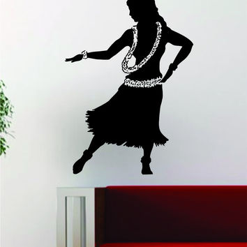 Hula Girl V2 Decal Sticker Wall Vinyl Art Room Wall Decor Decoration Hawaii Tropical Aloha Dance