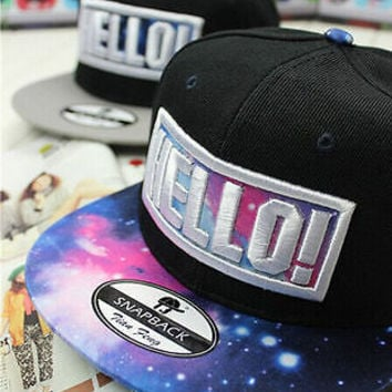 "New hot""hello!""Embroidery snapback EXO LUHAN cool Man's hat adjustable cap"