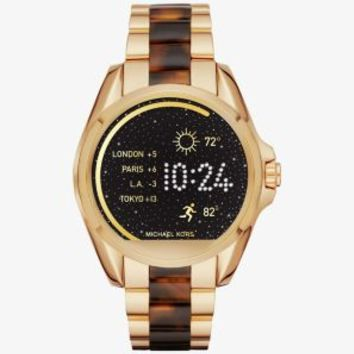 Michael Kors Access Bradshaw Gold-Tone and Acetate Smartwatch | Michael Kors