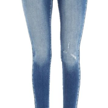 Kan Can Medium Wash Barelett-Kendra High Rise Ankle Skinny Jeans