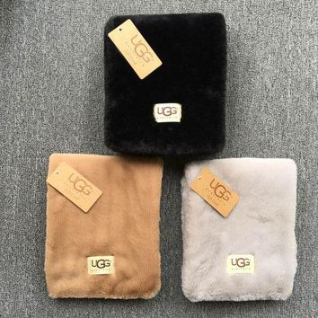 Gotopfashion '' UGG '' Autumn Winter Woman Men Scarf Scarves Heat Preservation Thick Scarf Accessories