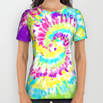Neon Tie Dye Series 1 All Over Print Shirt by Idle Amusement