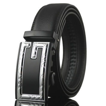 2016 men's genuine leather belt business automatic buckle Cowhide leather
