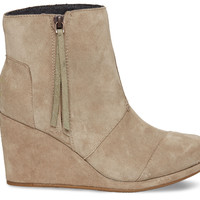 Taupe Suede Women's Desert Wedge Highs