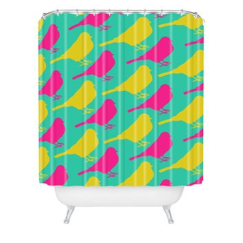 Allyson Johnson Bright Birdies Shower Curtain