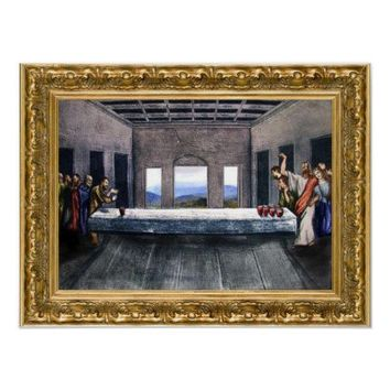Jesus' Beer Pong Last Supper Posters from Zazzle.com