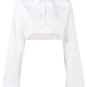 Off-White Cropped Buttoned Shirt - Farfetch