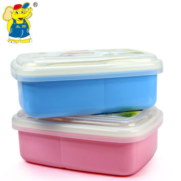 Kid Lunch Bento Box Dinnerware Sealed Single Layer High Heat Resistance Child Lunch Box Food Container for School Microwave Oven