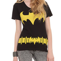 DC Comics Batman Costume V-Neck Girls T-Shirt