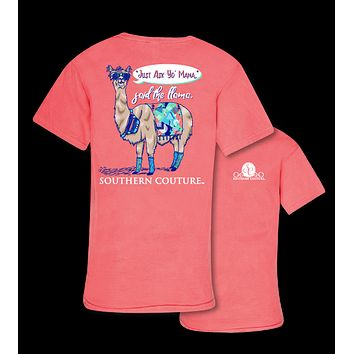 Southern Couture Just Ask Yo Mama Said the Llama Comfort Colors T-Shirt