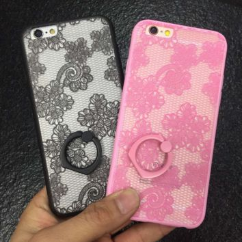 Vintage Floral Lace Ring Case for iPhone