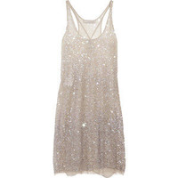 Discount Stella McCartney Sequined tulle tank dress | theOut... - Polyvore