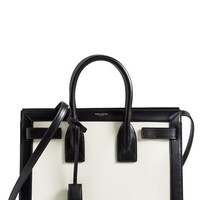 Women's Saint Laurent 'Small Sac de Jour' Colorblock Leather Tote