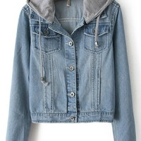 Classical Hooded Denim Jacket - OASAP.com