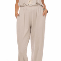 Spirit Voyage: Yogini Jumpsuit| Smoke gray | Small