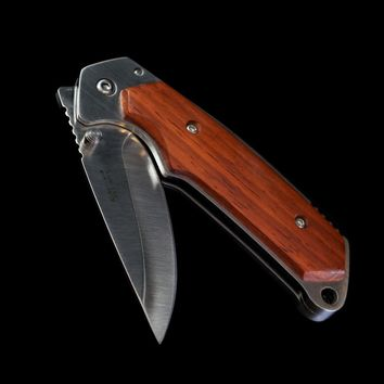 Bulky Wood Framed Folding Knife