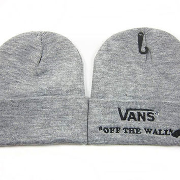 Perfect VANS Women Men Embroidery Beanies Winter Knit Hat Cap