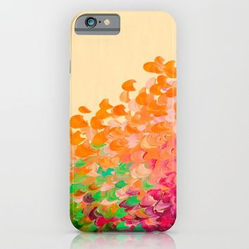 CREATION IN COLOR Autumn Infusion - Colorful Abstract Acrylic Painting Fall Splash Ombre Ocean Waves iPhone & iPod Case by EbiEmporium