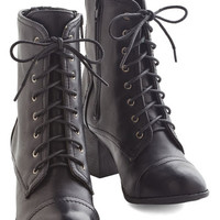 ModCloth Military No Place Stride Rather Be Boot in Black