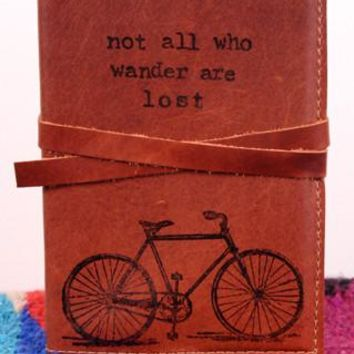 Bicycle Traveler's Leather Journal *Free Customization*