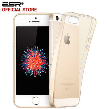 ESR Crystal Clear Ultra Slim Thin Soft TPU Gel Light Weight Protective Cover for iPhone 5/5s/5se