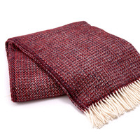 Burgundy Wool Blanket | TOMS
