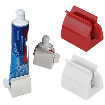 Rolling Tube Toothpaste Squeezer Toothpaste Easy Dispenser Seat Holder Stand Bathroom Accessories High Quality Tool 1PC