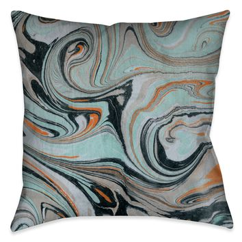 Mint Marble II Decorative Pillow