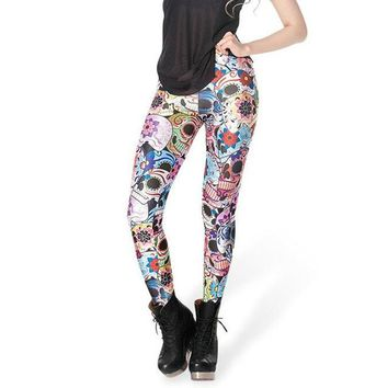 Halloween Skull Pattern -  Women's Leggings