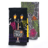 Halloween ''Trick or Treat'' 2-pc. Kitchen Towel Set (Black)