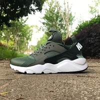 Best Online Sale Nike Air Huarache 4 Rainbow Ultra Breathe Men Women Hurache Army gree