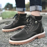 Hot Sale Stylish Comfort On Sale Casual Hot Deal Men Fashion High-top Shoes Permeable England Style Dr. Martens Training Men's Shoes Sneakers [257818230813]