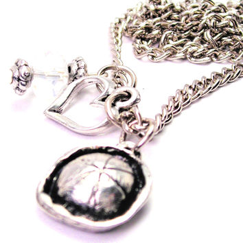 Sailors Hat Necklace with Small Heart