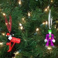 Harley Quinn & Joker Christmas Tree Ornament Set