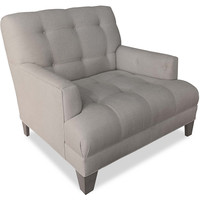Portland Tufted Linen Chair, Club Chairs