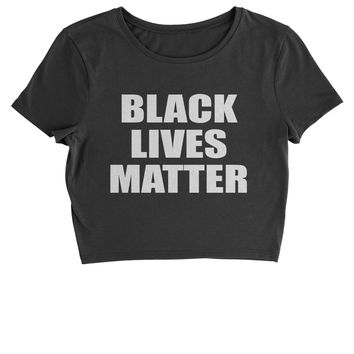 Black Lives Matter BLM Cropped T-Shirt
