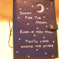 Shoot For The Moon Genuine Leather Journal