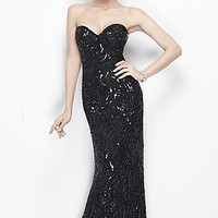 Strapless Sweetheart Formal Gown by Primavera