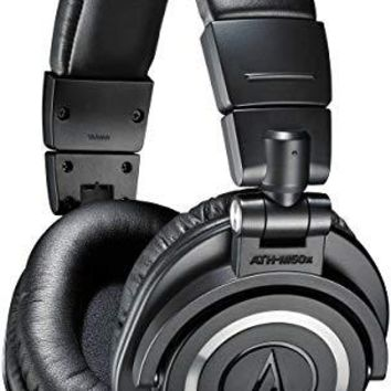 Audio-Technica ATH-M50x Professional Studio Monitor Headphones, Black