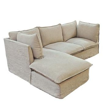 Custom Taylor Scott Collection Milano Sectional Sofa